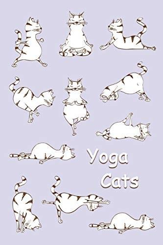 Journal: Yoga Cats (Purple) 6x9 - LINED JOURNAL - Journal with lined pages - (Diary, Notebook) (Cats & Kittens Lined Journal Series) 9781981813773