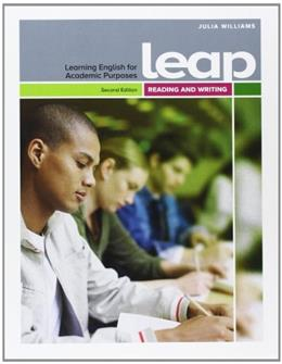 LEAP Reading and Writing, by Williams, 2nd Edition, Worktext 2 PKG 9782761341455