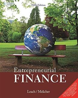 Entrepreneurial Finance, by Leach, 5th INDIA EDITION 9788131528235