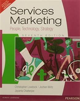 Services Marketing, by Lovelock, 7th Edition 9788131759394