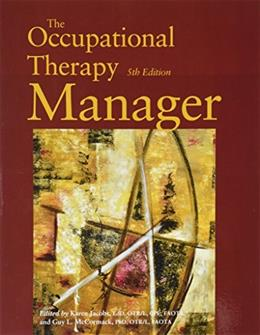 Occupational Therapy Manager, by Jacobs, 5th Edition 9788569002734