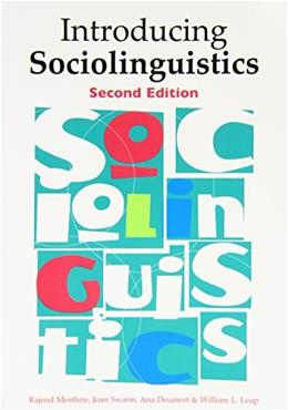Introducing Sociolinguistics, by Mesthrie, 2nd Edition 9789027232656