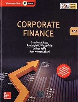 Corporate Finance, by Ross, 10th SPECIAL INDIA EDITION 9789339203122