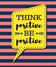 Think Positive Be Positive: Light Coral Stripes - 100 Pages - Blank Page Lined Journal Notebook (Inspirational Notebooks)