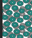 Sketchbook: Spirals and Flowers (Teal) 6x9 - BLANK JOURNAL NO LINES - unlined, unruled pages (Spirals & Swirls Sketchbook Series)