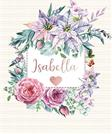 Isabella: Personalized Floral Journal with Pink Gold Lettering, Name/Initials 8.5x11, Journal Notebook with 110 Inspirational Quotes Journals to Write In for Women