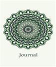 Journal: Flower Mandala (Green) 6x9 - LINED JOURNAL - Writing journal with blank lined pages (Mandala Design Lined Journals)