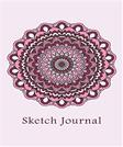 Sketch Journal: Flower Mandala (Pink) 6x9 - Pages are LINED ON THE BOTTOM THIRD with blank space on top (Mandala Design Sketch Journal Series)