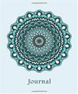 Journal: Flower Mandala (Blue) 8x10 - LINED JOURNAL - Journal with lined pages - (Diary, Notebook) (8x10 Mandala Design Lined Journals)