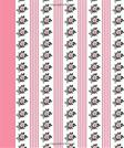 Journal: Floral and Stripes (Pink) 8x10 - LINED JOURNAL - Writing journal with blank lined pages (8x10 Flowers Lined Journal Series)